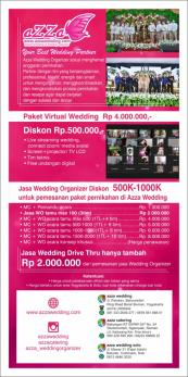 azza wedding organizer, virtual wedding, wedding drive thru